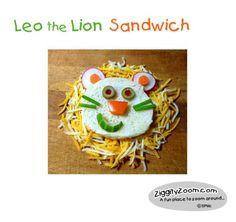 Leo the Lion Fun Finger Sandwich   Ziggity Zoom