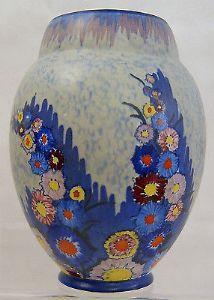 Carlton Ware Art Deco 'Garden' Ovoid Medium Vase - 1930s