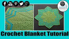 Crochet Waves 8 point Blanket