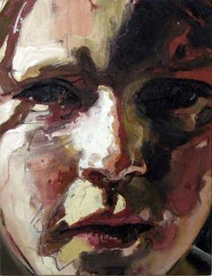 """Jo Fraser """"Sun In Edinburgh"""" [2 of 3]  41 x 51cm 2008 Oil and Charcoal on Canvas"""