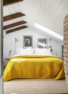 Check Out 39 Dreamy Attic Bedroom Design Ideas. An attic bedroom is usually associated with romance because it's great to get the necessary privacy. Attic Bedroom Designs, Attic Bedrooms, Home Bedroom, Bedroom Decor, Bedroom Ideas, Bedroom Retreat, Modern Bedroom, Kids Bedroom, Attic Renovation