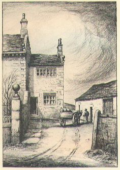 Illustration of Manor House in Agnes Grey by Anne Bronte. Story of a governess in Victorian England, an indictment of upper classes, vain, selfish, lack of moral core. free ebook on Literature Page Agnes Grey, Bronte Sisters, Emily Bronte, Drawing Studies, Coffee And Books, Art For Art Sake, Beautiful Artwork, Book Lovers, In This Moment