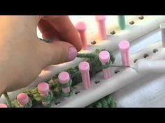 Martha Stewart Crafts Loom Binding Off Double Knitting - YouTube