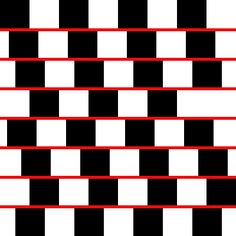 parallel lines - optical illusion