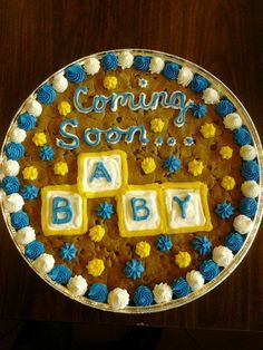 Baby Ideas, Cake Ideas, Baby Announcements, Announcement Cake, Cakes Baby Shower, Cake Cookiecake, Baby Cakes, Baby Announcement Ideas