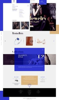 Stunning Jewelry Store Web Design by Michal Wierzbicki Ecommerce Web Design, Web Ui Design, Email Design, Page Design, Website Layout, Web Layout, Layout Design, Ui Website, Interface Web