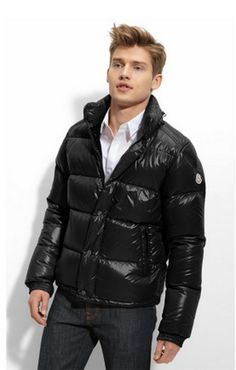 Moncler everest jacket men short glossy no hat black [2900026] - £139.08 :