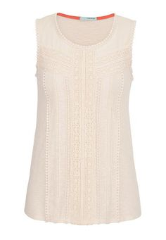 1920s style sleeveless top with crochet $29.00 AT vintagedancer.com