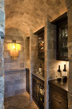 "Wine Room rustic wine cellar  www.LiquorList.com ""The Marketplace for Adults with Taste!"" @LiquorListcom #LiquorList.com"