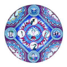 Aquarius astrología Mandala imprimir Zodiac por LindyLonghurst