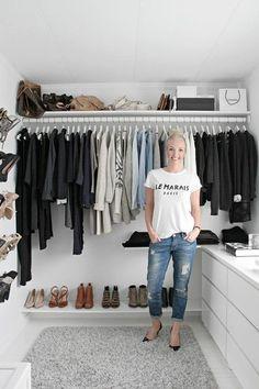 Ideas Walk In Closet Organization Ideas Ikea Dressing Rooms Walk In Closet Design, Closet Designs, Wardrobe Design, Closet Bedroom, Closet Space, Wardrobe Closet, Ikea Closet, Simple Wardrobe, Ikea Walk In Wardrobe