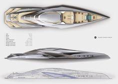 Trimaran yacht, Valkyrie, Chulhun Park, luxury yacht, yacht concept, yacht design, Royal College of Art London, future yachts
