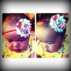 <3 it! Vintage floral Headband on Adorable Samone