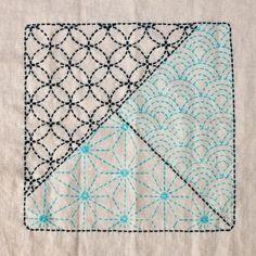Sampler 3 traditional Sashiko patterns   ojamiya2