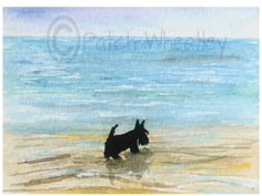 A personal favourite from my Etsy shop https://www.etsy.com/uk/listing/240120647/scottie-dog-art-print-scottish-terrier