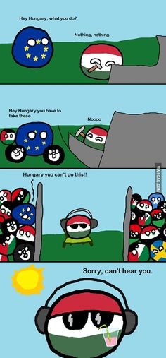 Hungary also deserve a share of happiness - Daily LOL Pics Best Funny Pictures, Funny Images, Funny Cute, Hilarious, History Memes, Country Art, Funny Comics, Cringe, Jokes