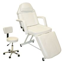 LCL Beauty White Fully Adjustable Facial Bed / Massage Table ------- I'd have to put the bed on heavy-duty locking swivel casters.