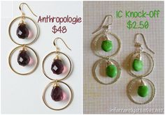 Anthropologie knock off Piccadilly earrings. #knockoff #copycat @infarrantly
