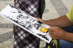 Artista pintando - Artista dibujando y pintando un tranvía. Artist, Places To Visit, Paint