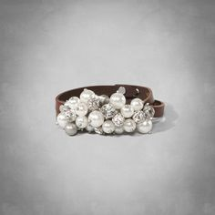 Womens Embellished Leather Bracelet | Womens Accessories | jp.Abercrombie.com