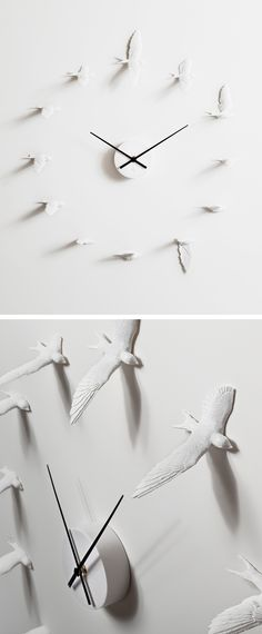Swallows - bird in flight wall clock #product_design