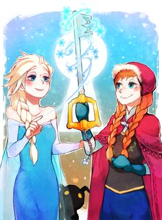 Frozen with a Kingdom of Hearts theme - fanart