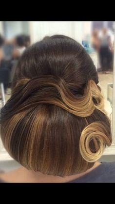 Updo hair, bridal, weddings