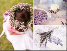 flowergirl hair wreath flowers lavender