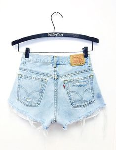Levis High Waisted Shorts  Distressed Destroyed by BaileyRayandCo