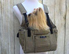 ♥ DIY Dog Stuff ♥  Dog Carrier PDF Sewing Pattern Small Dog Purse by PupPanache