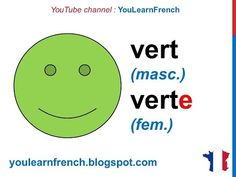 French Lesson 2 - Colors in French Colours Vocabulary Masculine Feminine Pronunciation Les couleurs - YouTube