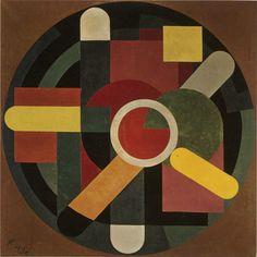 """thunderstruck9: """" Jozef Peeters (Belgian, 1895-1960), Compositie, 1921. Canvas, 150 x 150 cm. """" click to enlarge"""