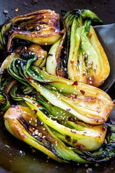 Learn how to cook bok choy, a healthy Asian vegetable, using the stir-fry method to create beautifully browned edges and crisp-tender stalks. recipe stir fry How to Cook Bok Choy Vegetable Recipes, Vegetarian Recipes, Cooking Recipes, Healthy Recipes, Vegetable Salad, Healthy Cooking, Vegetable Stir Fry, Vegetable Garden, Pasta Recipes
