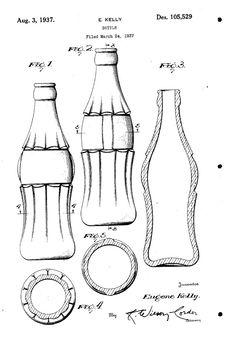Coca Cola bottle patent, 1937