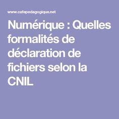 VU / Numérique : Quelles formalités de déclaration de fichiers selon la CNIL