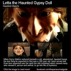 Haunted doll- this is terrifying! I wouldn't go within a mile of that doll