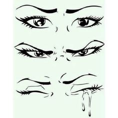 Anime eyes always have the tears droppes from one direction and one side , it's the dar side that can shines when tears start to be down , but in. Crying Eye Drawing, Cry Drawing, Drawing Sketches, Anger Drawing, Sketching, Realistic Eye Drawing, Sad Drawings, Eye Sketch, Sad Eyes
