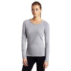 HKNB Heidi Klum for New Balance Womens Laser Cut Long Sleeve Crew Neck Shirt, Gray, Small (Apparel)