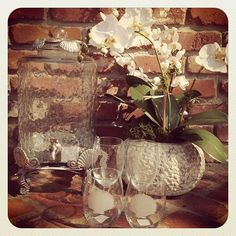 Etched Stemless wine glasses and Drink Dispenser