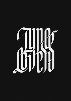 Type Lovers Project by Jackson Alves, via Behance