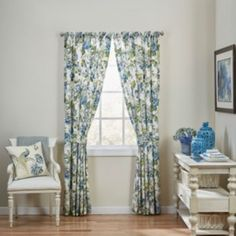 Waverly+2-pack+Floral+Engagement+Curtains+-+50''+x+84''