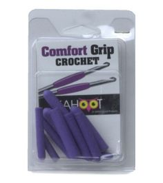 Comfort Grip Crochet Hook 10/Pkg-Purple & Crochet Hooks at Joann.com