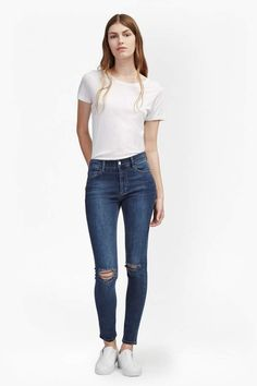 7d1189c76a French Connenction New Rebound Ripped Knee Skinny Jeans Ripped Knee Jeans