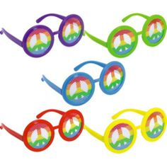 Feeling Groovy Printed Glasses 10ct - Party City