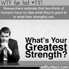 If everybody did what they were good at, and maximized their strengths, this World would be in Better Shape!?! -  WTF fun facts