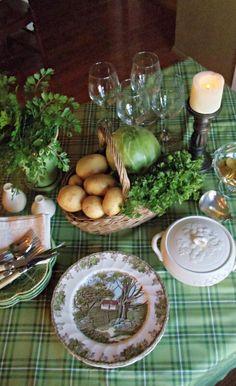 Potato and cabbage centerpiece