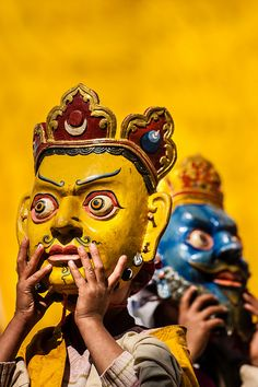 During Paro Tsechu festival, Bhutan. by David Ducoin