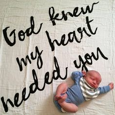 God knew my heart needed you swaddle blanket. Every mama needs this sweet blanket for their babies.