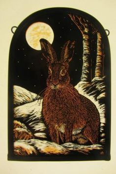 """""""At the Edge of the Wood (Winter Hare)"""" by Tamsin Abbott"""