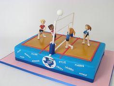 Volleyball cake. 4 my eighth grade night!!